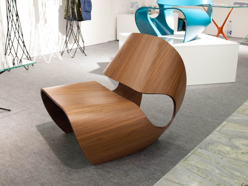 Bent wood abstract chair