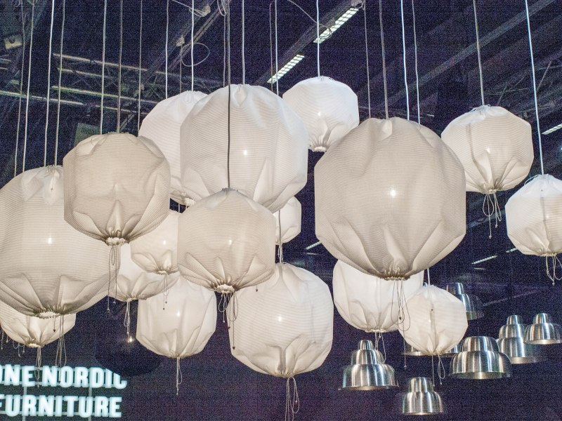 Hot air balloonish chandeliers